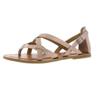 Lucky Brand Ainsley Leather Flat Thong Sandals